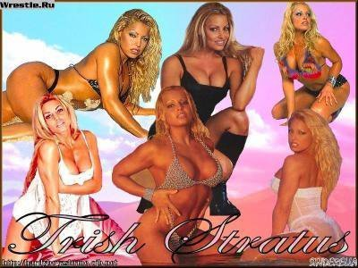 Trish Stratus achtergrond with a bikini called Trish Fanart