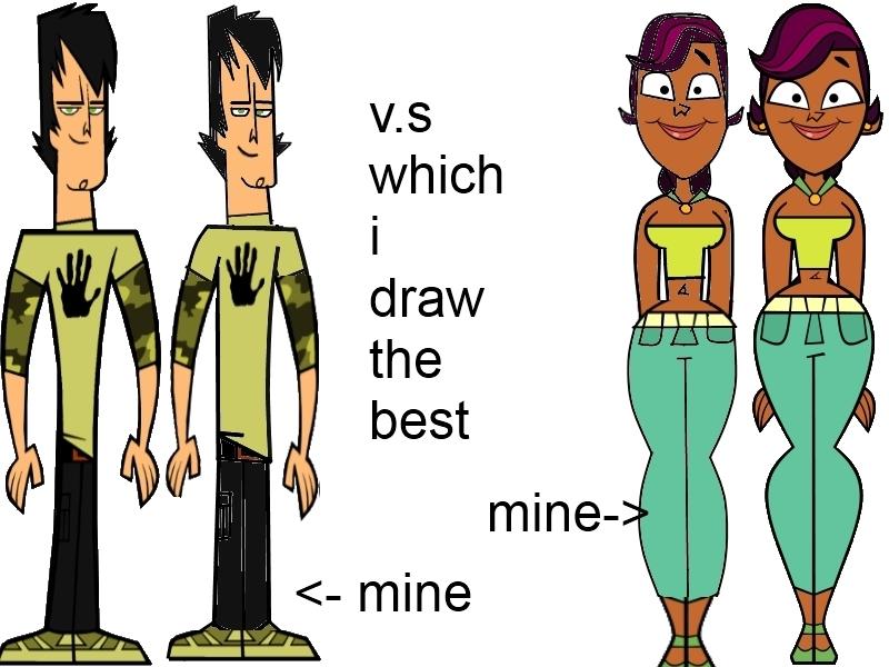 Vs. Which i draw the best TRENT VS. SIERRA