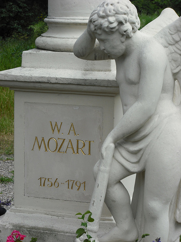 Wolfgang Amadeus Mozart's grave