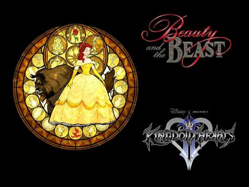 Beauty and the Beast wallpaper possibly containing a roulette wheel and a sign entitled beauty and the beast in kingdoms heart