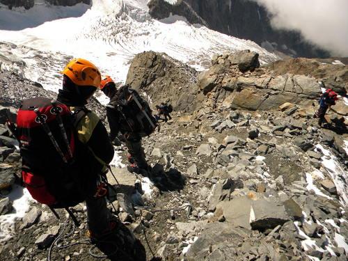 climb to Gouter hut France
