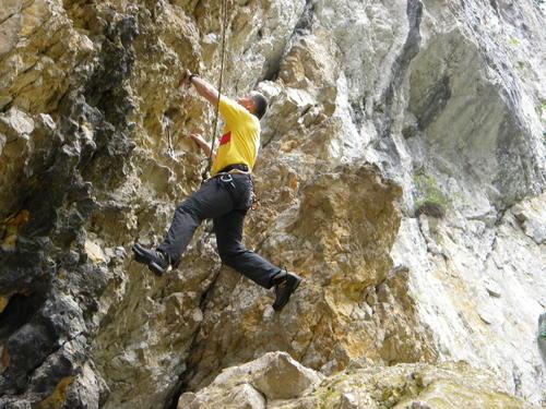 climbing in zarnest gorge Romania