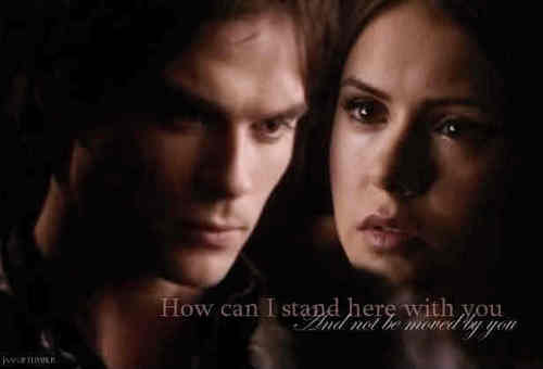 Damon&Elena and Ian&Nina wallpaper with a portrait called damon and elena