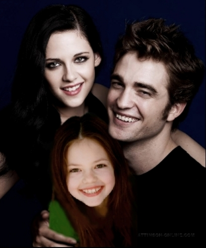 Siri-siri Twilight kertas dinding with a portrait called famille cullen