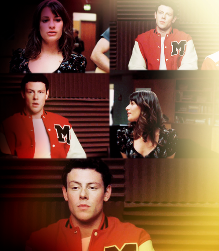 Finn & Rachel پیپر وال containing a portrait titled finchel in love