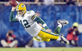 flying aaron rodgers - green-bay-packers photo
