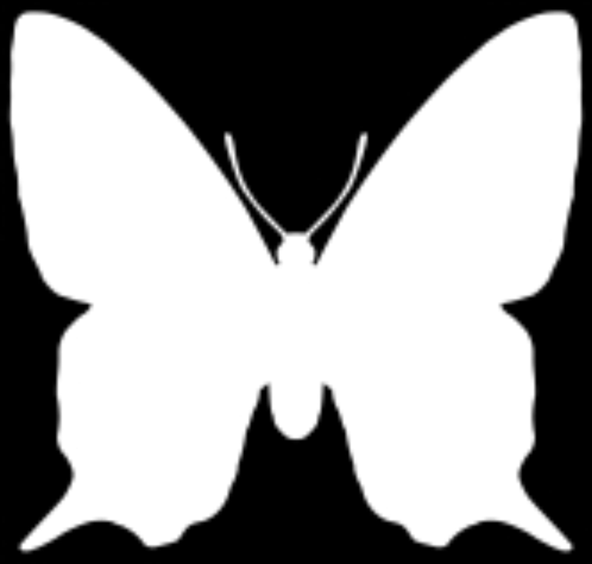 inverted तितली silhouette