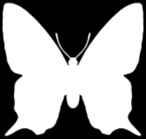 polyvore clippingg♥ wallpaper titled inverted butterfly silhouette