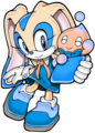jenny the rabbit and dizzy the chao - sonic-girl-recolors photo
