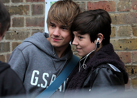 liam with a fan! :)