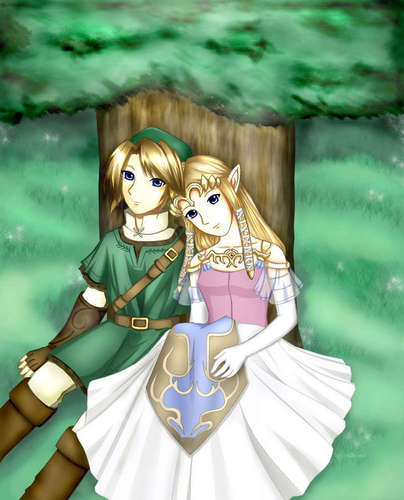 link and zelda - majoras-mask Photo