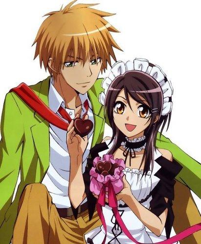 Takumi Usui x Misaki Ayuzawa karatasi la kupamba ukuta with anime titled misaki ♥ usui