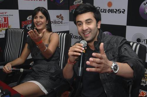 Ranbir Kapoor and Katrina Kaif wallpaper probably containing a hip boot and a business suit called rk and kat roxxxx
