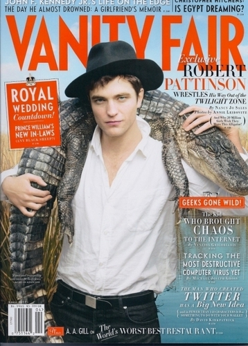 rob in the new vanity fair magazine <3