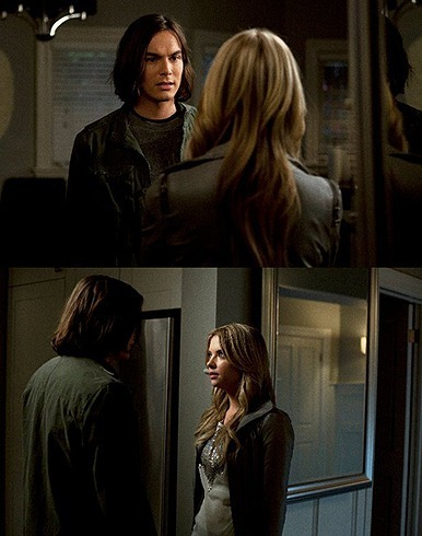 Hanna & Caleb wallpaper possibly containing a portrait titled 1x20 - Someone to Watch Over Me