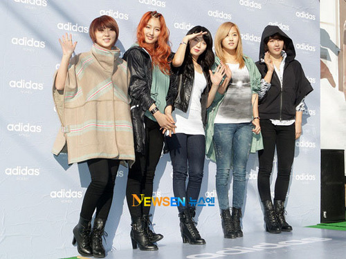 4Minute at the adidas Women's Store opening