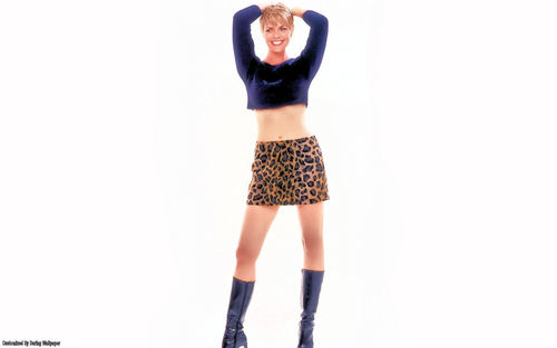 Amanda Tapping achtergrond probably containing hot pants and hotpants entitled Amanda Tapping achtergrond