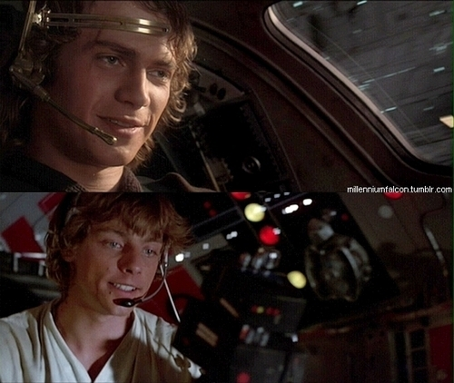 Anakin and Luke
