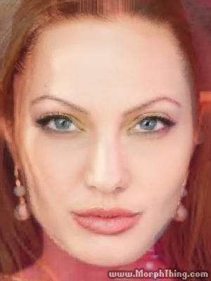 Anne Lindfjeld and Angelina Jolie