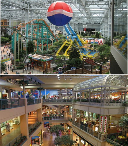 Awesome malls.