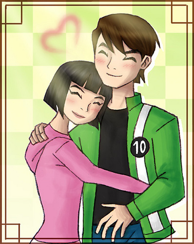 Ben 10: Ultimate Alien wallpaper with anime titled Ben and Julie