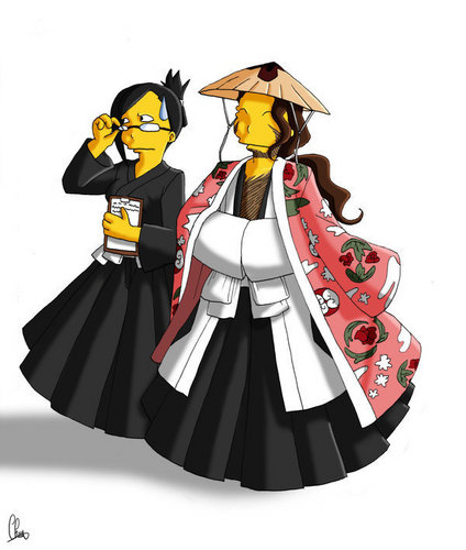 Bleach meets Simpsons