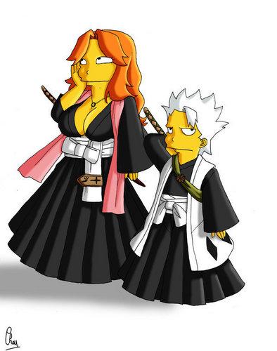 Bleach meets Simpsons