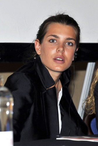 charlotte Casiraghi at the Fondazione Pistoletto