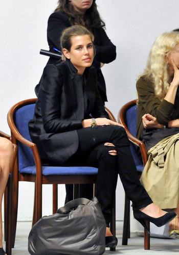 carlotta, charlotte Casiraghi at the Fondazione Pistoletto