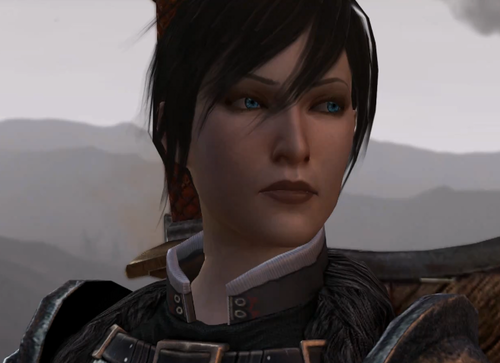 Close up of Female Hawke