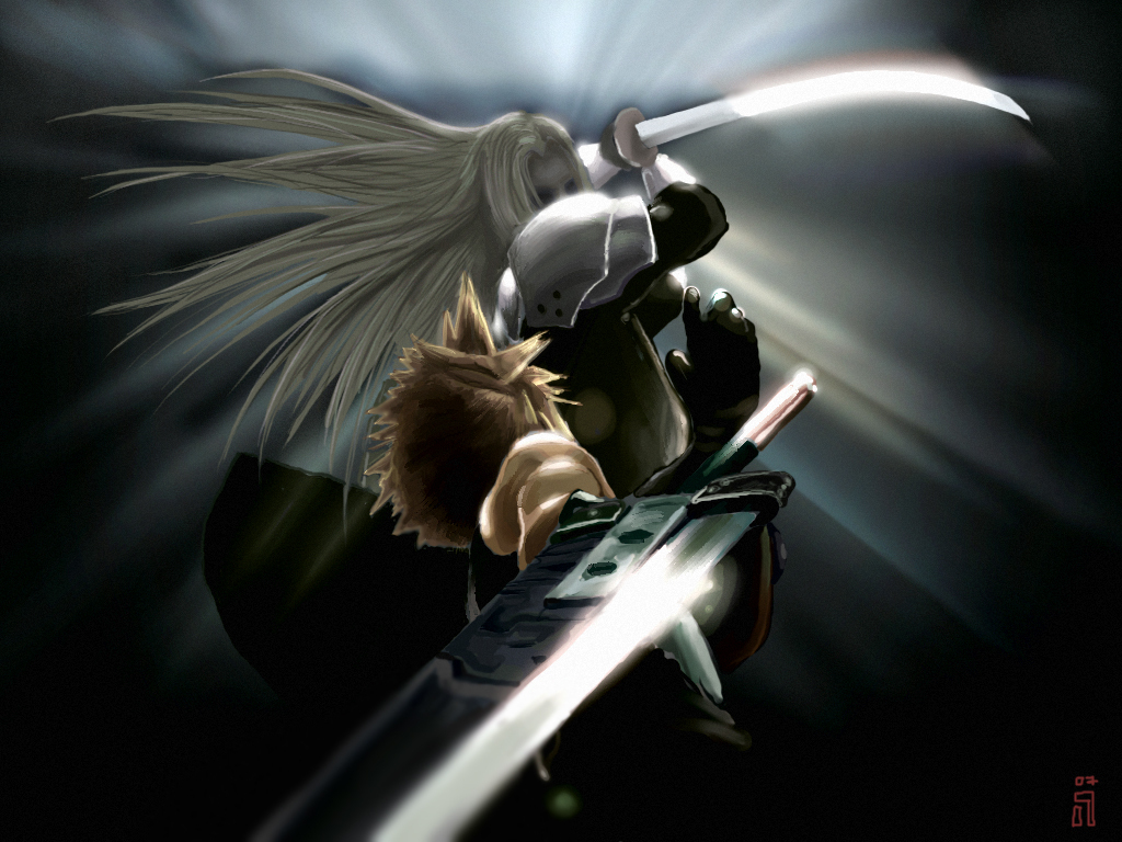 cloud strife images cloud v sephiroth hd wallpaper and