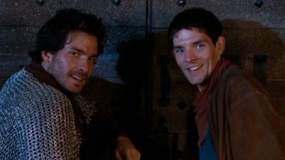 Colin Morgan and Santiago Cabrera