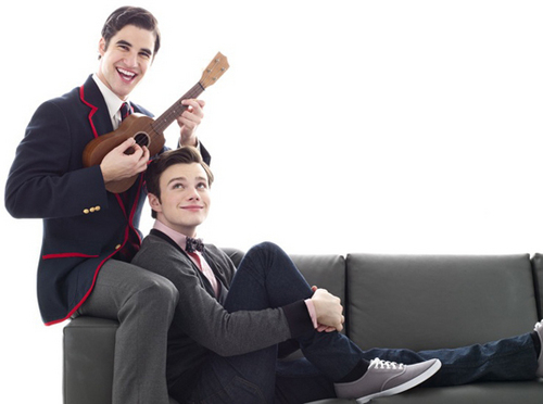 Kurt and Blaine wallpaper containing a business suit entitled Darren&Chris {Photoshoot}