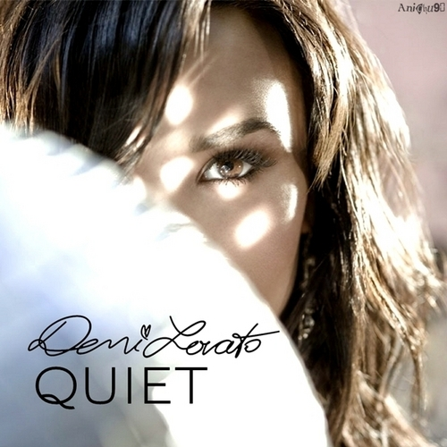 Anichu Wallpaper Containing A Portrait Called Demi Lovato Quiet My Fanmade Single Cover