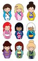 Disney leading ladies Kokeshi Dolls - disney-leading-ladies fan art
