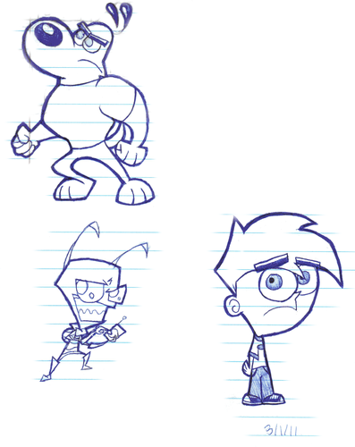 Dudley,ZIM, and Danny - invader-zim-fancharacters Fan Art