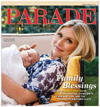 Emily Procter with baby daughter Pippa