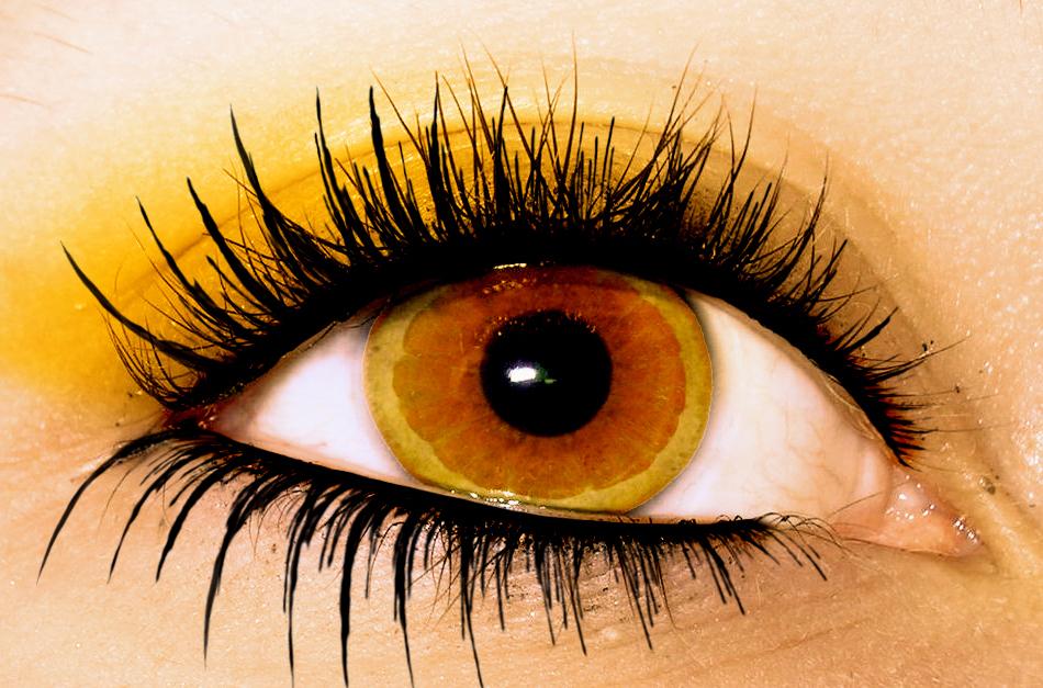 Как сделать глаза оранжевыми