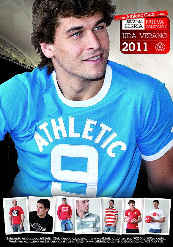 Fernando Llorente - modeling for the Athletic Bilbao brand (2011)