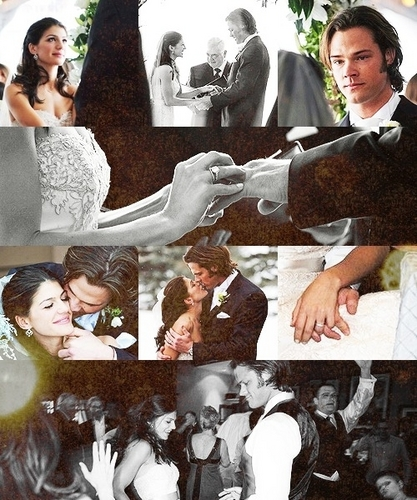 Jared Padalecki & Genevieve Cortese wallpaper possibly containing a sign titled Gen & JAred