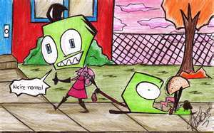 Gir and Zim and taco