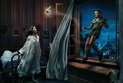 Gisele Bundchen as Wendy and Mikhail Baryshnikov as Peter Pan