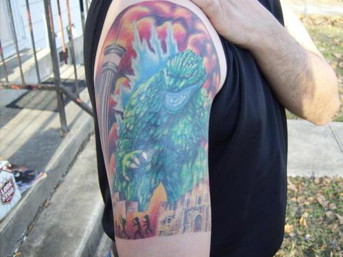 Godzilla invades SA tattoo