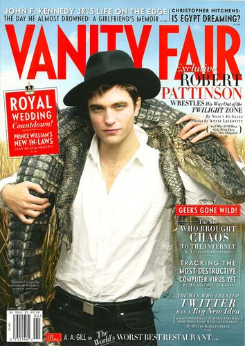 HQ scans of Robert Pattinson's Interview in Vanity Fair