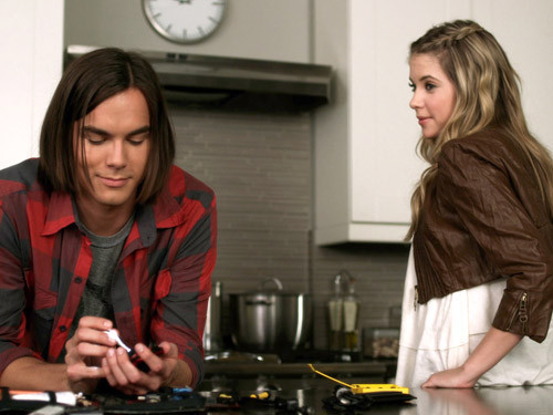 Hanna & Caleb wallpaper possibly containing a coffee break, an outerwear, and a jantar entitled Hanna & Caleb <3