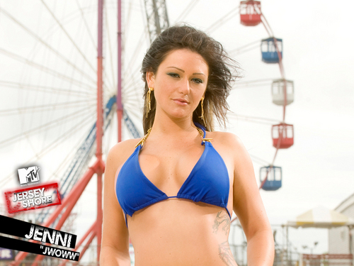 Jersey Shore wallpaper containing a bikini entitled Jenni JWOWW Farley Jersey Shore Wallpaper