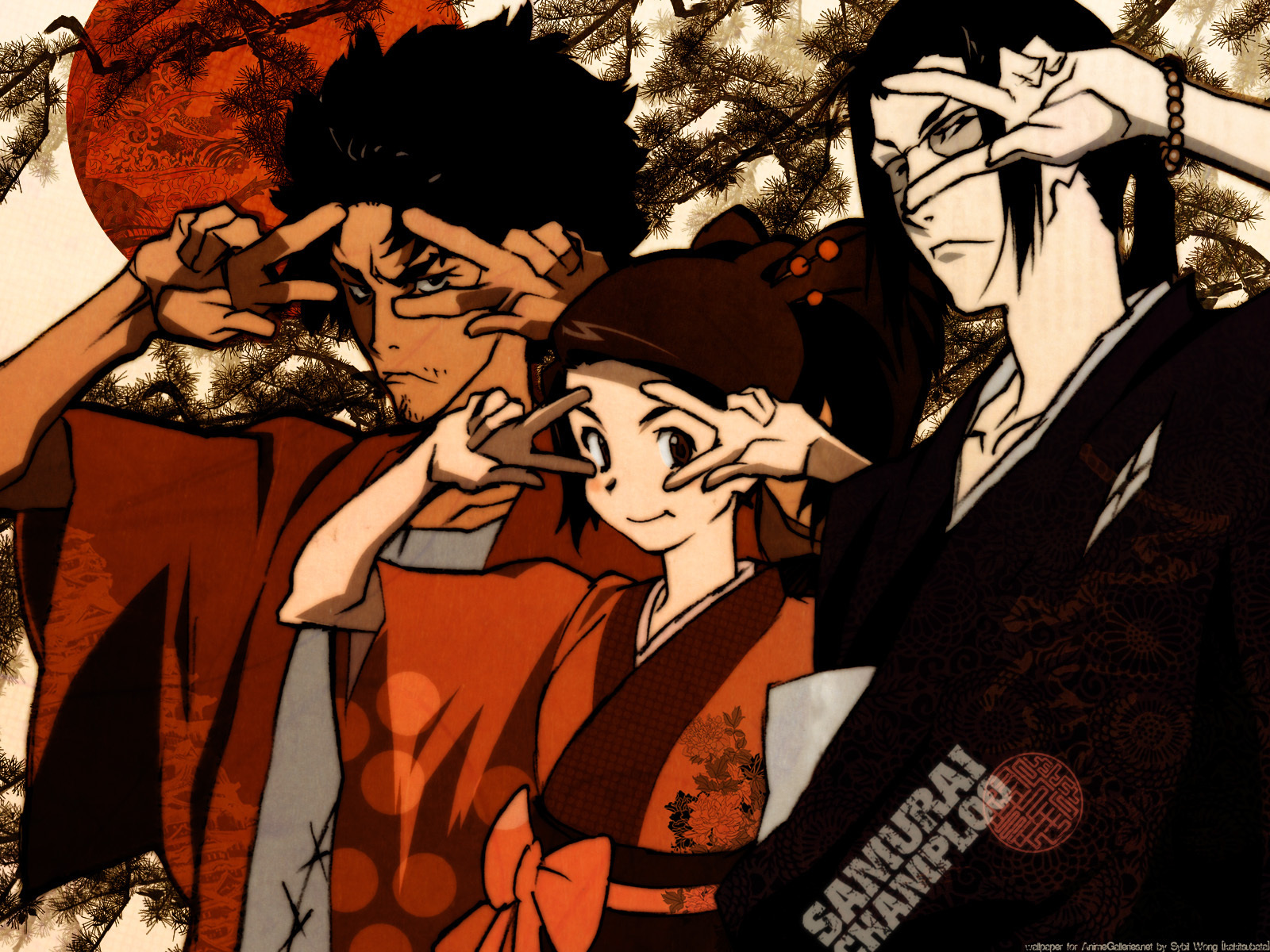 Jin Mugen And Fuu Samurai Champloo Wallpaper 19839440