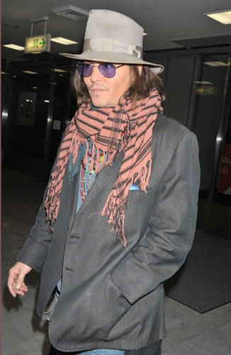 Johnny Depp , In Hapon To Promote ' Rango ' 2nd March 2011