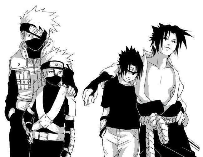 Kakashi and Sasuke