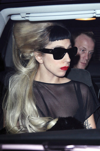 Lady Gaga Arrives in Paris for Mugler Show
